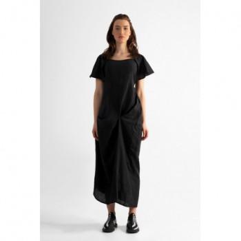 Dlouhé šaty krátky rukáv