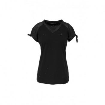 Černé tričko krátké elegant