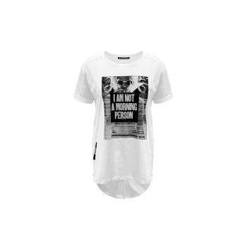 Bílé tričko dlouhé