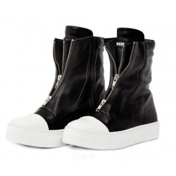 Kožené vyšší boty