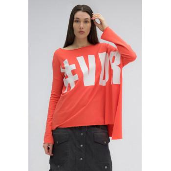 Tričko oversize s nápisem