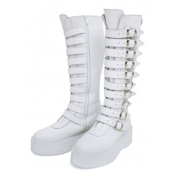 Vysoké kožené boty - 2 barvy